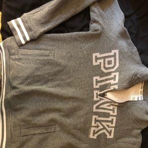 Pink VS 3 qtr zip up hoodie
